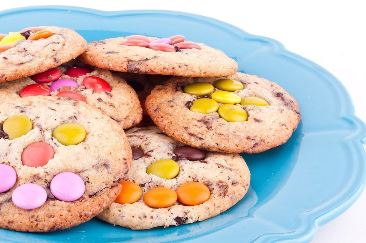 "Multicoloured biscuits with chocolate sweets  ""Big Hit"""