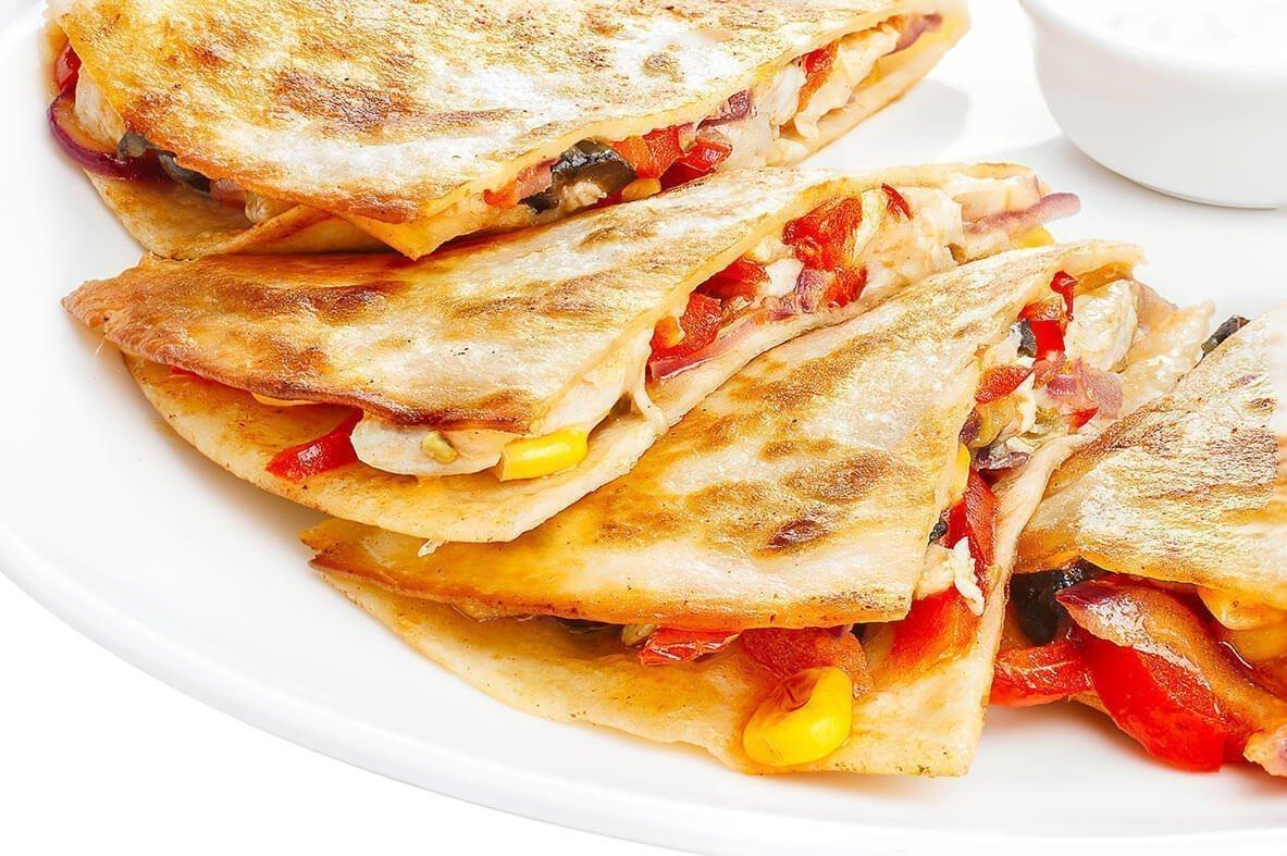 Κεσαντίγιας (Quesadillas) με κοτόπουλο