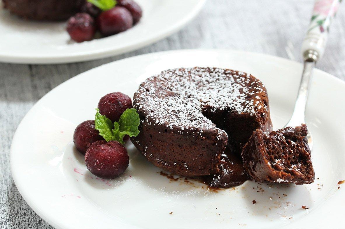 Ατομικά λάβα κέικ σοκολάτας