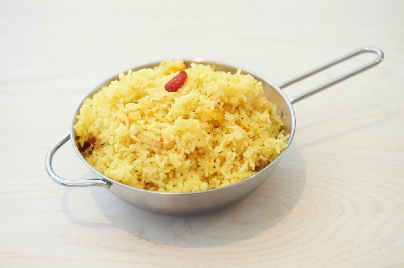 Aromatic rice with saffron and pine nuts
