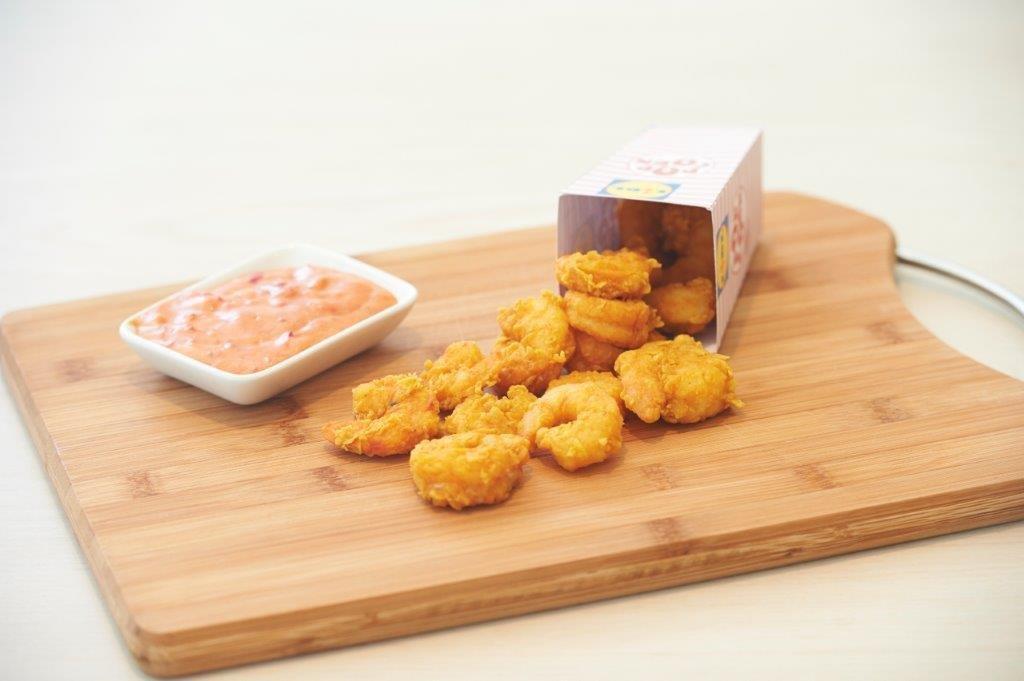 Γαρίδες ποπ κορν με εύκολη σάλτσα κοκτέιλ