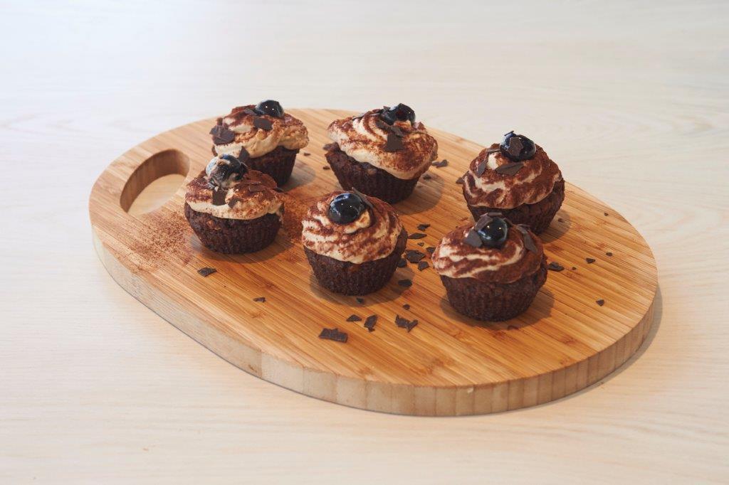 Dolce/ Επιδόρπιο – Σοκολατένια cupcakes Τιραμισού