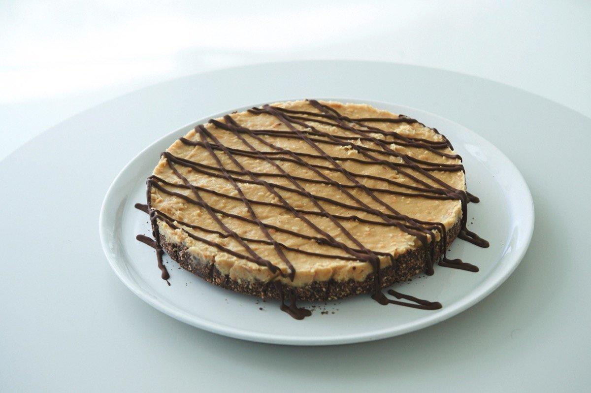 Πίτα με μπανάνα και φυστικοβούτυρο και κρούστα σοκολάτας