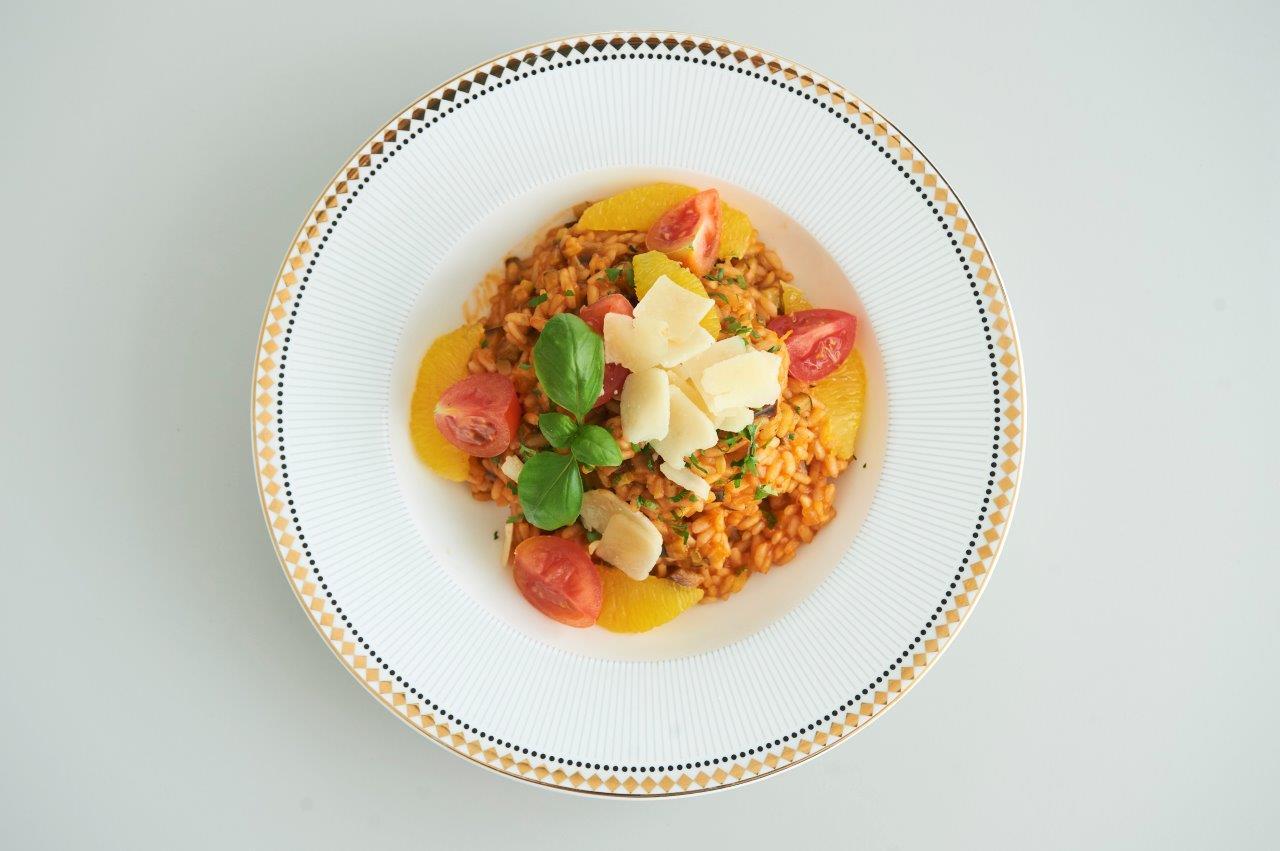 Ριζότο με μεσογειακά λαχανικά