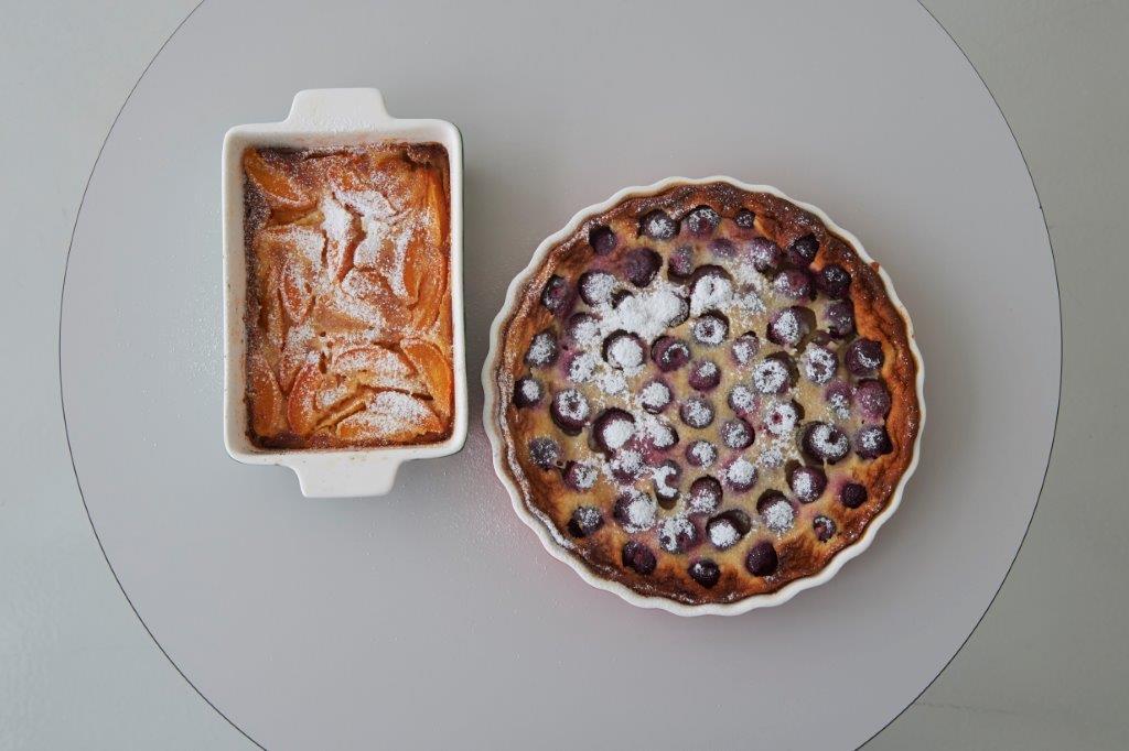 Γαλλική κρέμα «κλαφουτίς» με κεράσια και κονιάκ